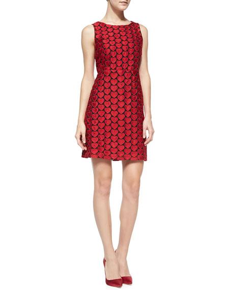 Everleigh Heart-Embroidered Sleeveless Dress