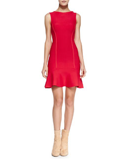 BCBGMAXAZRIA Padma Knit Fit & Flare Dress
