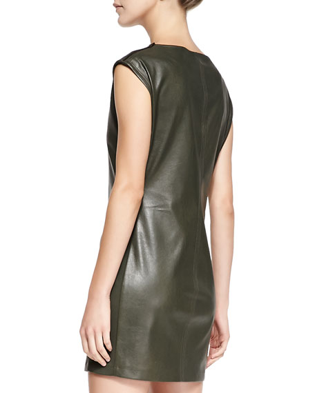 Karlee Faux-Leather Dress
