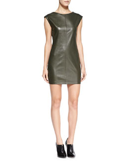 BCBGMAXAZRIA Karlee Faux-Leather Dress