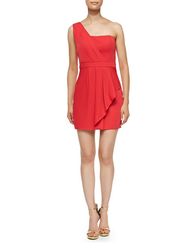 BCBGMAXAZRIA Vaness Pleated One-Shoulder Dress