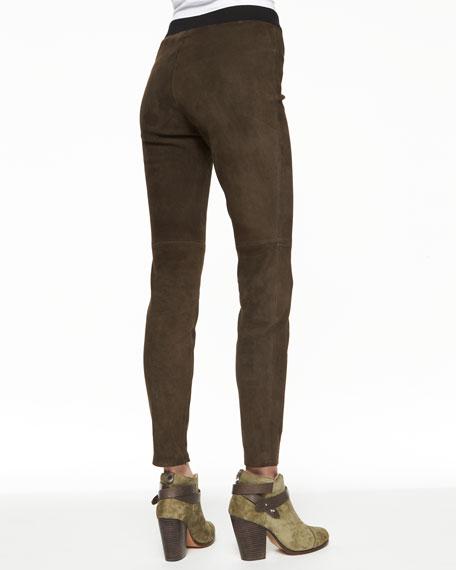 Roxana Slim Stretch Leather Pants