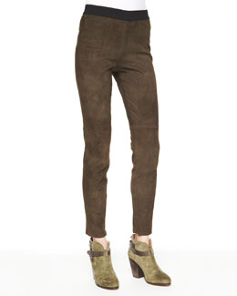 Elie Tahari Roxana Slim Stretch Leather Pants