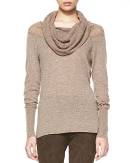 Elie Tahari Cashmere Aurora Draped-Neck Sweater