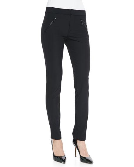 Rebecca Taylor Ava Slim-Leg Techy Pants