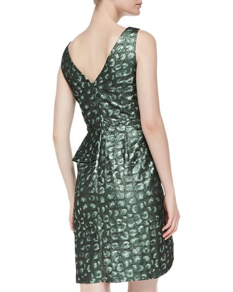 Asymmetric Peplum Cocktail Dress