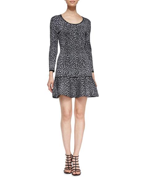 Animal-Print Drop-Skirt Dress