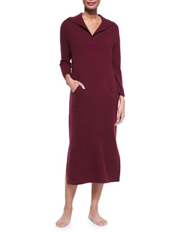 Neiman Marcus Cashmere Sweater Dress with Kangaroo Pocket
