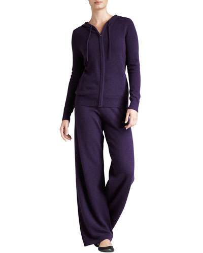 Neiman Marcus Cashmere Hooded Jogging Set