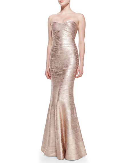 Sara Signature Metallic Bandage Gown