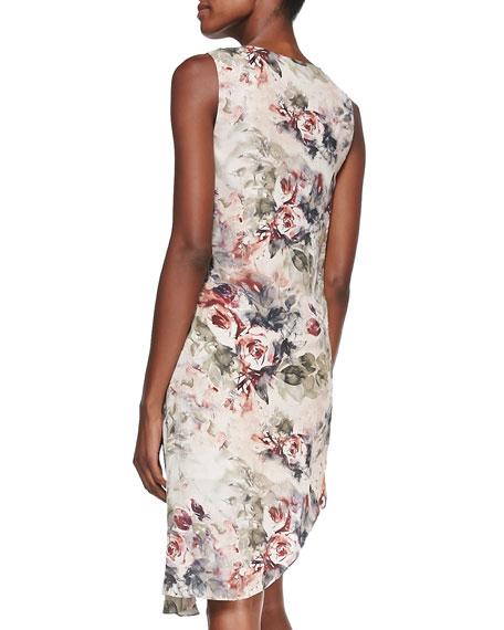 Silk Asymmetric Crossover Dress