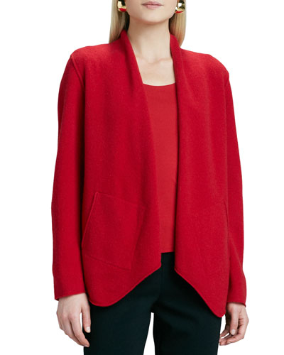 Merino-Wool Open Jacket, Petite