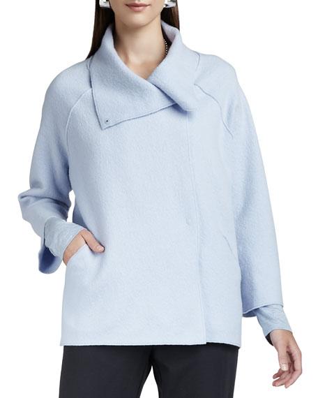 Eileen Fisher Boiled-Wool Coat, Plus Size