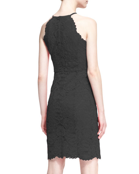 Parry Sleeveless Slim Lace Dress
