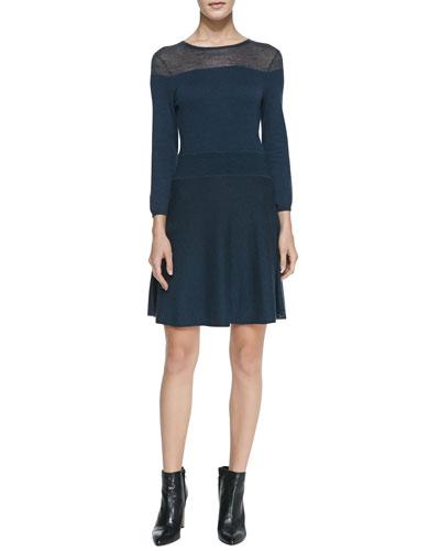 bela.nyc Holly Knit Crewneck Dress
