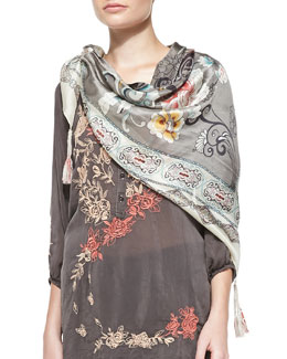 JWLA for Johnny Was Cloudy Silk Georgette Scarf