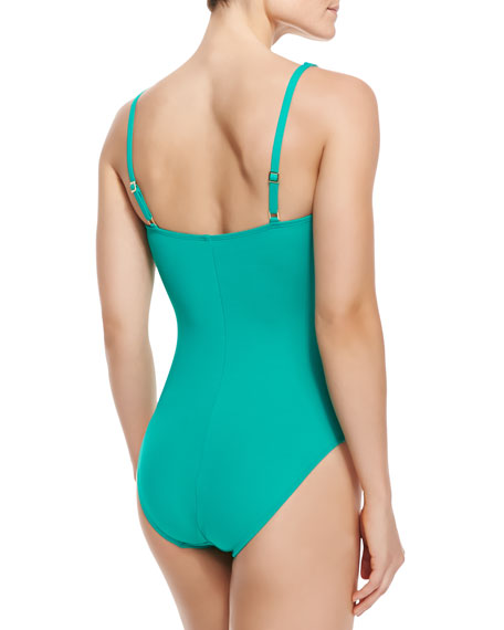 Core Ruched-Center One-Piece Swimsuit, Women's