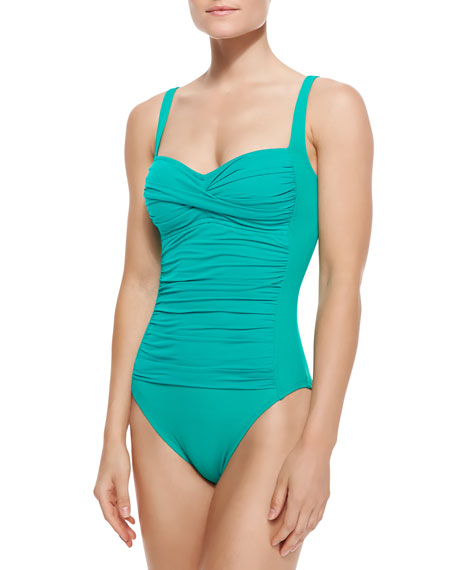 Core Ruched-Center One-Piece Swimsuit