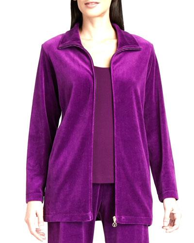 Long Velour Jacket, Women's