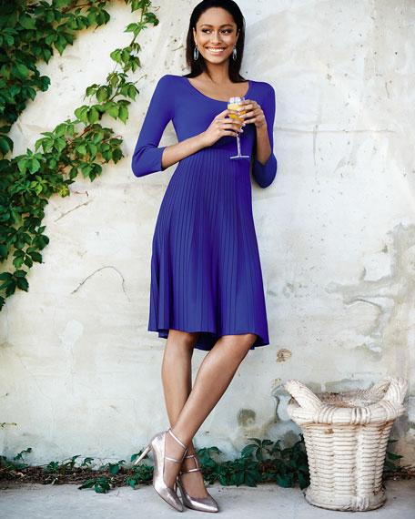 Mixed-Ribbing Jersey Dress