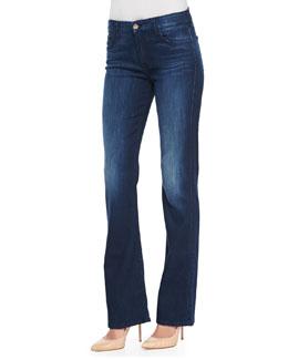 JEN7 Boot-Cut Denim Jeans, Medium Indigo