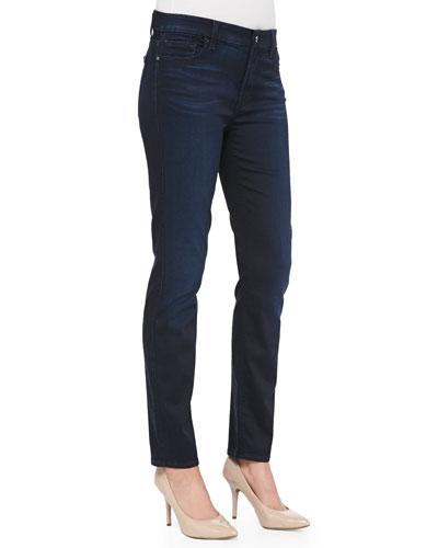 Skinny Denim Jeans, Blue/Black
