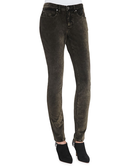 Velveteen Skinny Jeans, Bronze