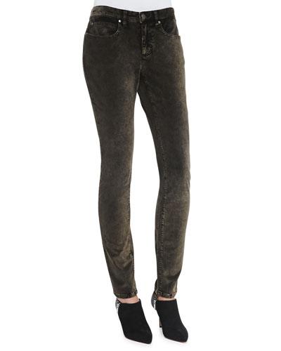 Eileen Fisher Velveteen Skinny Jeans, Bronze, Petite