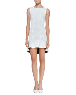 BCBGMAXAZRIA Faye Knit Flounce-Hem Dress