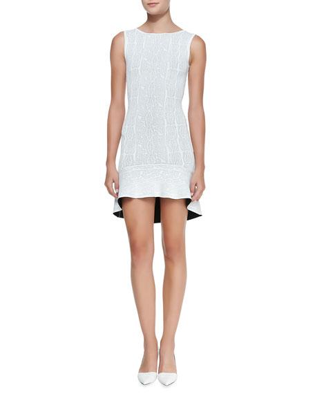 Faye Knit Flounce-Hem Dress