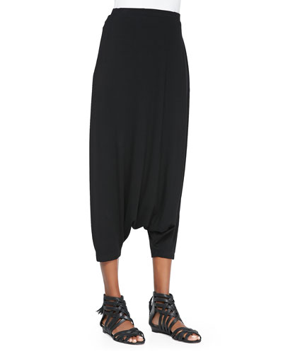 Eileen Fisher Lightweight Harem Pants, Black, Petite