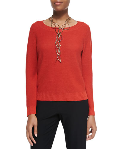 Eileen Fisher Merino Jersey Box Top