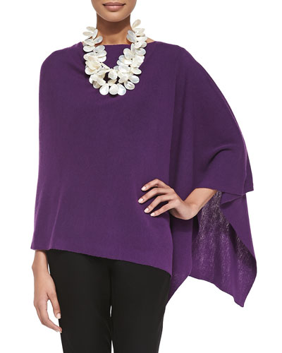 Eileen Fisher Washable Wool Crepe Poncho