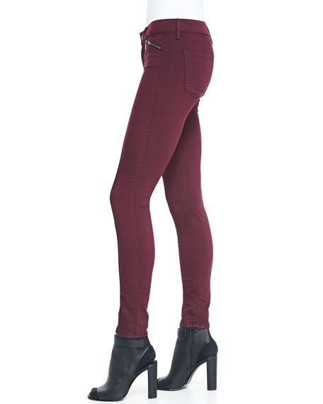 Zip-Pocket Skinny Jeans