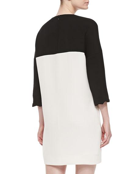 Colorblock Bracelet-Sleeve Dress