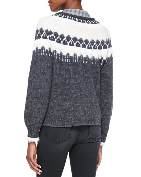 Kasia Two-Tone Knit Sweater