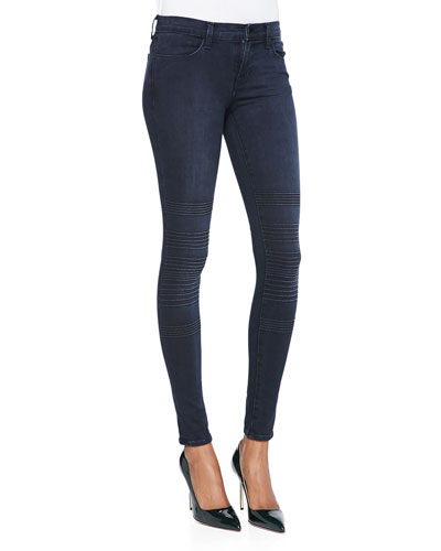 J Brand Jeans Willow Verve Trapunto-Knee Skinny Jeans