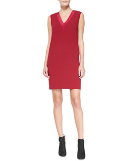 DKNY Sleeveless V-Neck Shift Dress