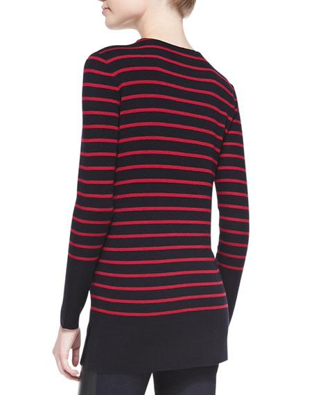 Seraphina Striped Wool Tunic Sweater