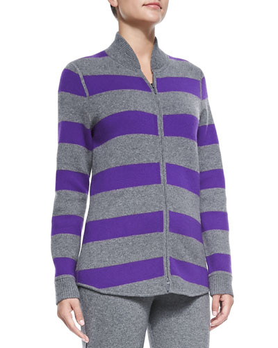 Belford Cashmere Striped Reversible Sweater