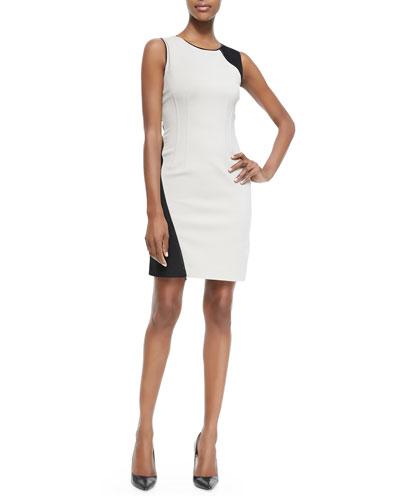 T Tahari Dakota Colorblock Sheath Dress