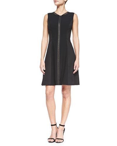 T Tahari Tristen Zip-Front Dress