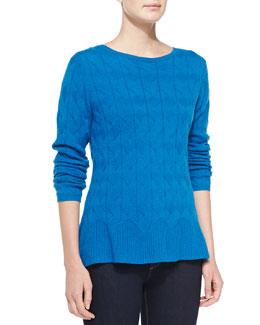 in CASHMERE Woven Cashmere Prep Sweater