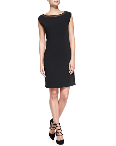 T Tahari Landry Cap-Sleeve Dress