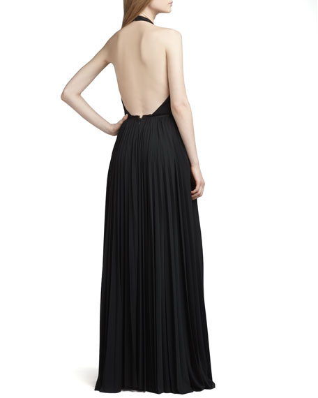 Beaded Halter Gown