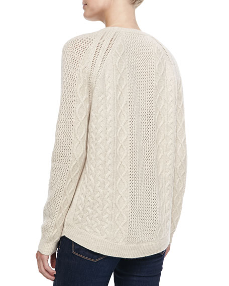 Cashmere Ribbed Cable Sweater