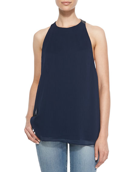 Haber Leather T-Back Swing Tank