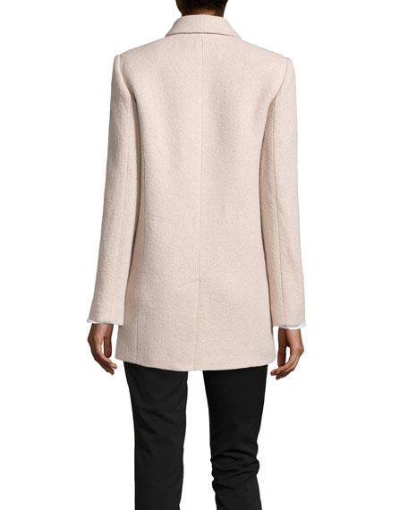 Oversize Wool-Blend Bouclé Coat, Atmosphere