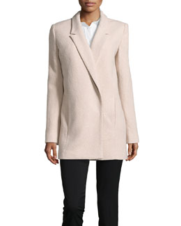 Halston Heritage Oversize Wool-Blend Bouclé Coat, Atmosphere