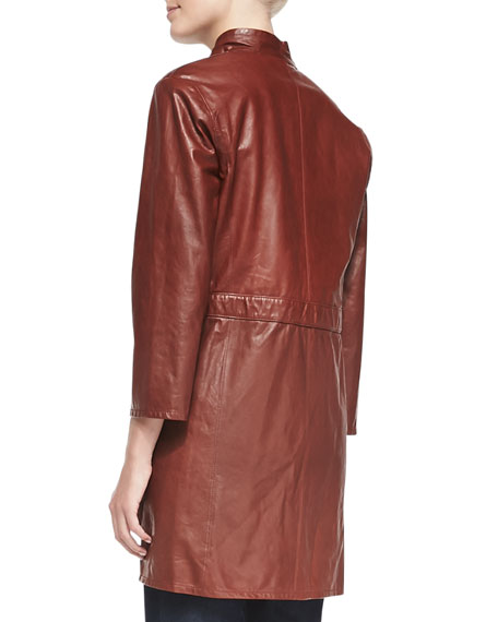 Vangeline Leather Topper with Drawstring Waist
